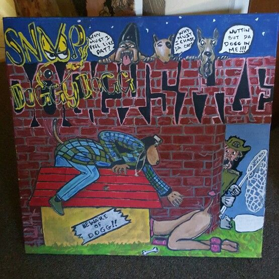 Giacasso Paintings  Snoop Doggy Dogg Doggy style album cover