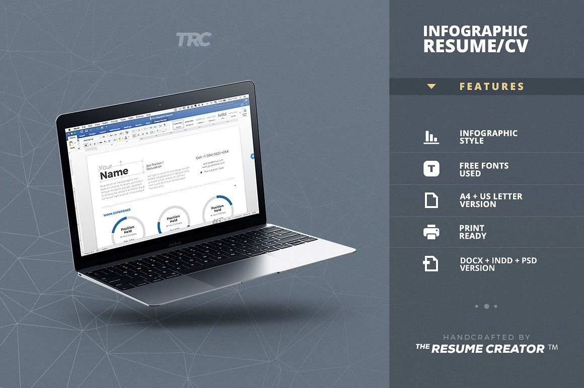 Infographic Resume Cv Template Vol 3 By Theresumecreator On