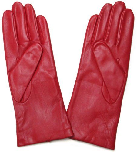 e90f7d09d2ac7 Fownes Women's Cashmere Lined Red Lambskin Leather Gloves 9/XXXL  Fownes,http:/