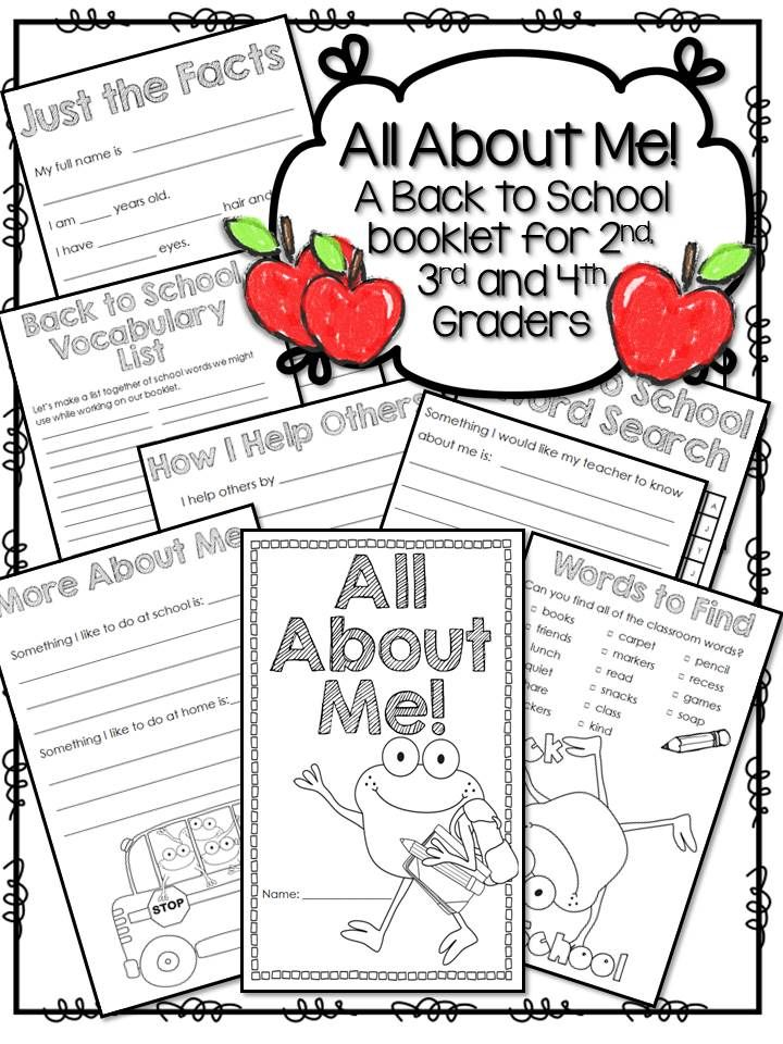 Back to School/All About Me/First Day of School Booklet