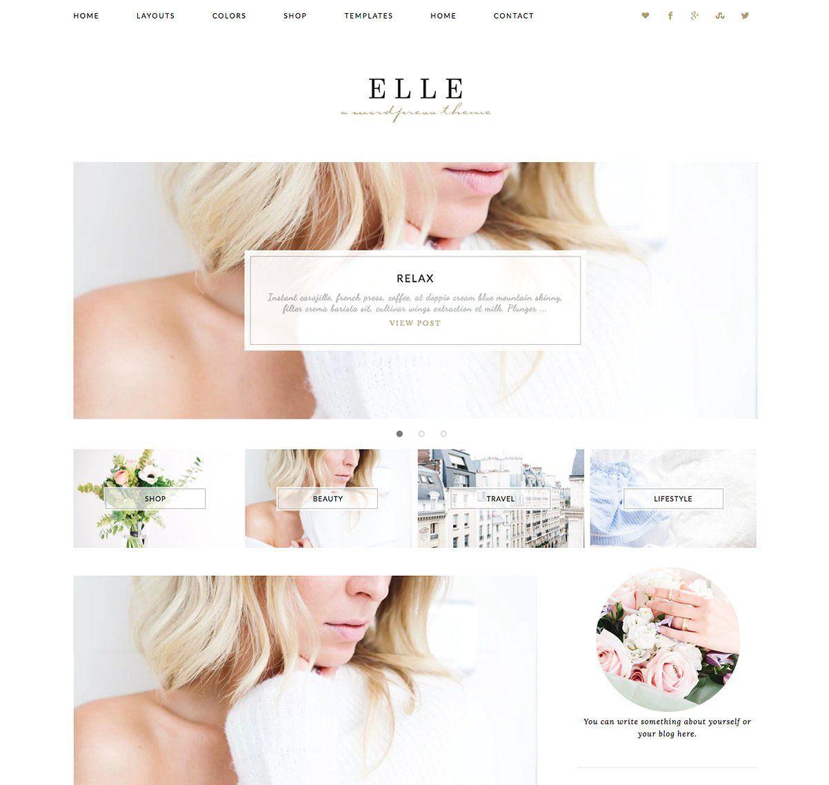 50 Modern, Minimal, Feminine Wordpress Blog Themes   Brazen Biz