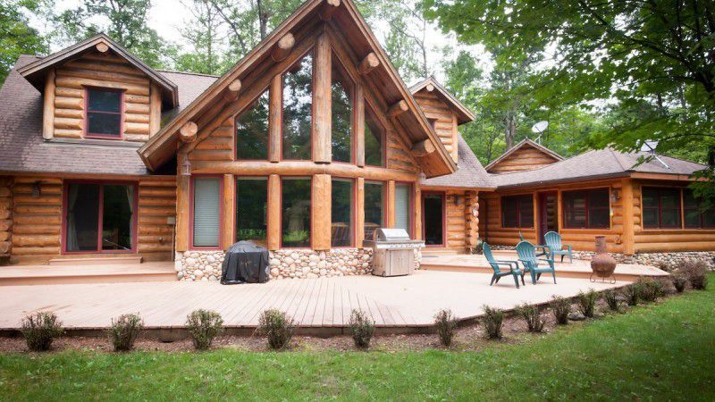 Beautiful Log Home On Garland Resort Golf Course In Lewiston   SOLD! Search  Other Log
