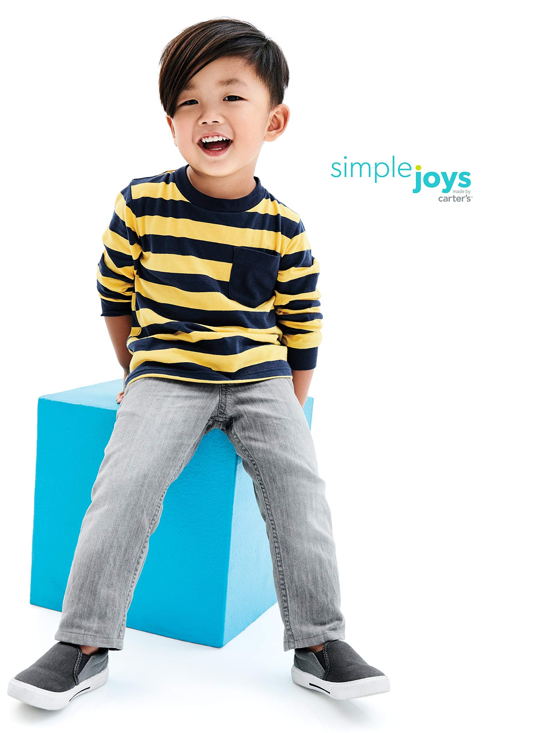 20695c7de Simple Joys by Carters Baby Boys Toddler 2Pack Pull on Denim Pant Gray Denim  Blue Denim 2T ** Click picture to evaluate even more details.