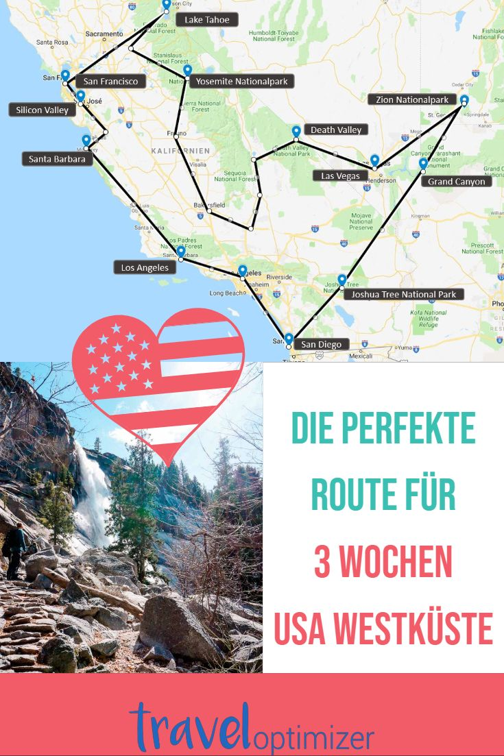 Die perfekte Route für 3 Wochen USA (Westen)