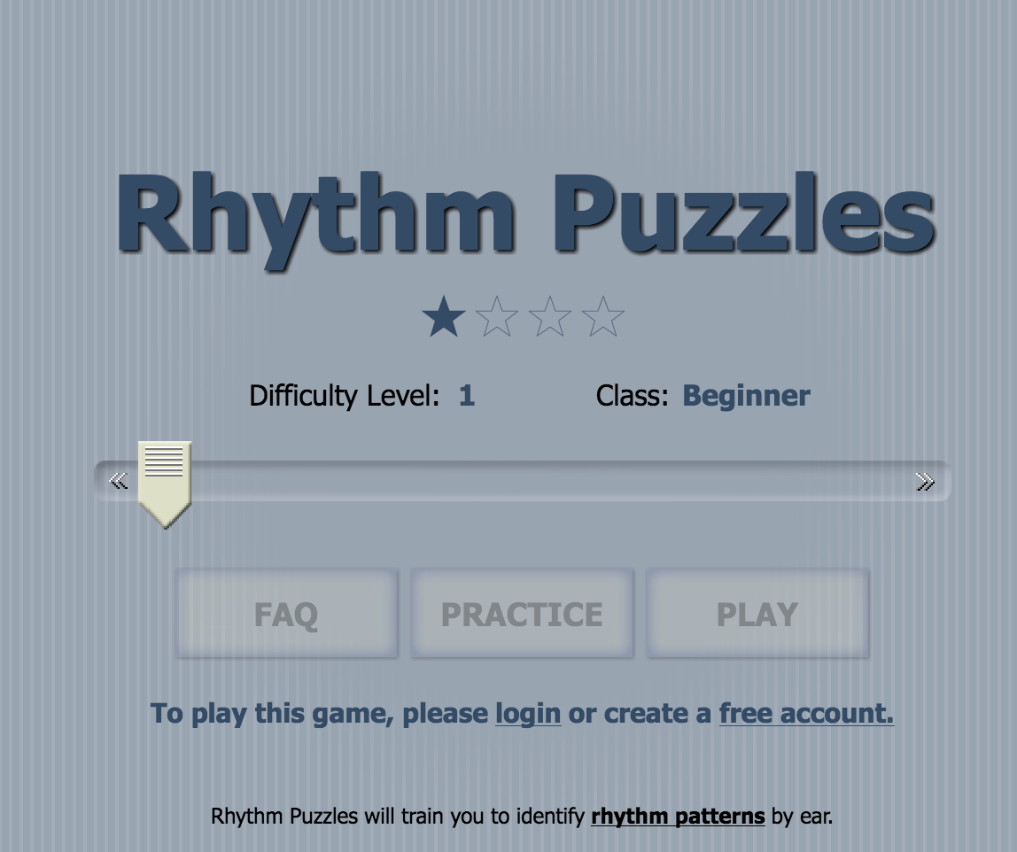 Rhythm Puzzles Requires Login Music Theory