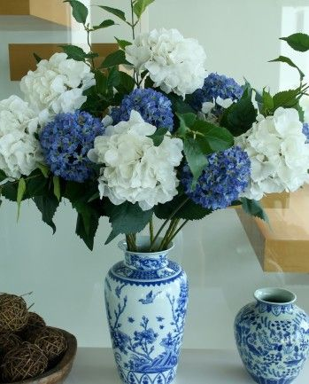 Large french white hydrangea spray with blue alliums artificial shop the silk flower company hong kong mightylinksfo