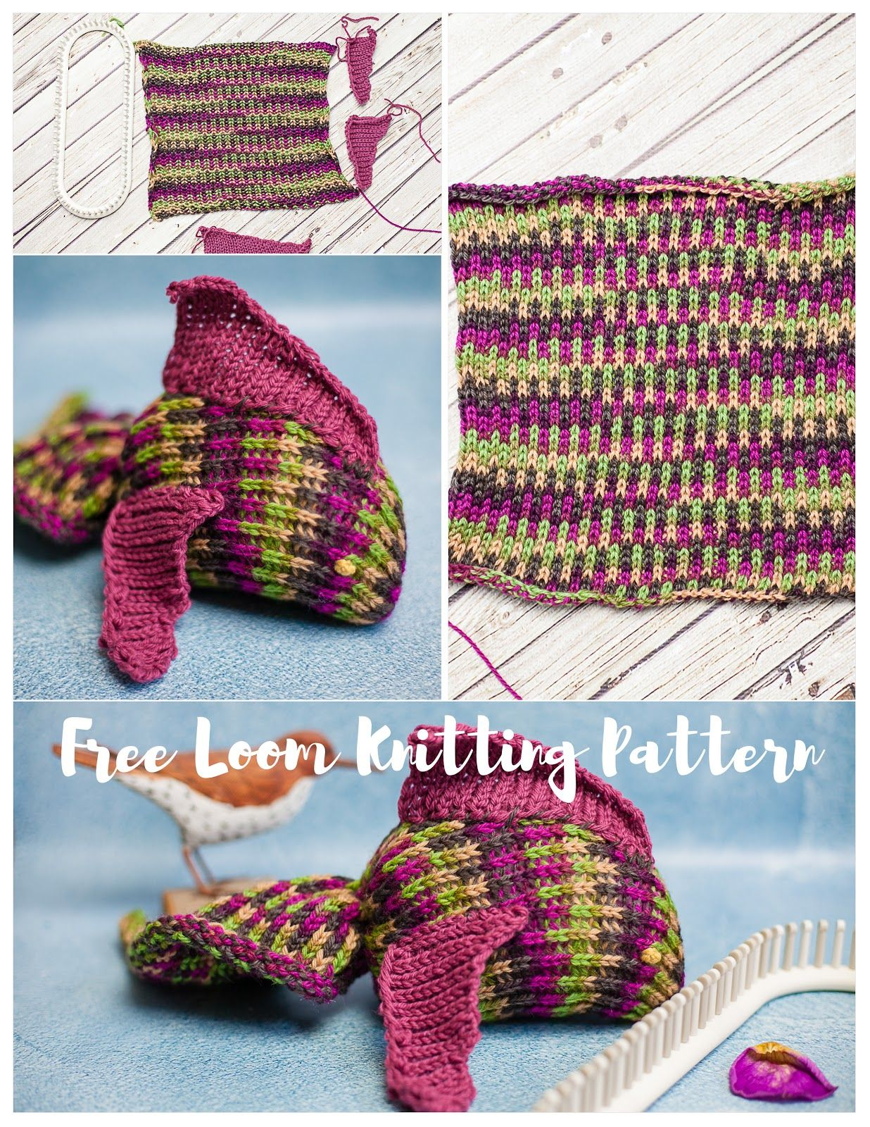 Loom Knit Fish Pattern (Free) | Fish patterns, Loom knitting and ...