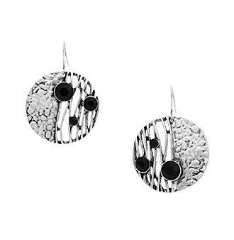 Erica Lyons® Silvertone Animal House Drop Circle Pierced Earrings
