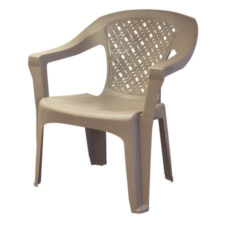 Adams Mfg Corp Big Easy Woven Stack Chai Chair Woven Chair Umbrella Chair
