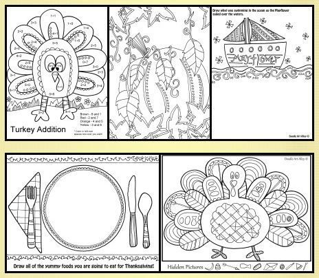 FREE THANKSGIVING ACTIVITY BOOK~ Great pictures to color ...