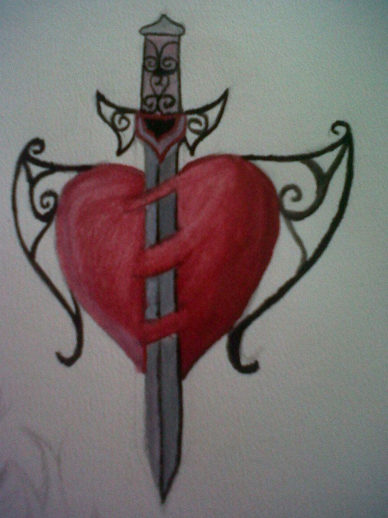 Sword Through Heart Tattoo Design By Broken Leo On Deviantart