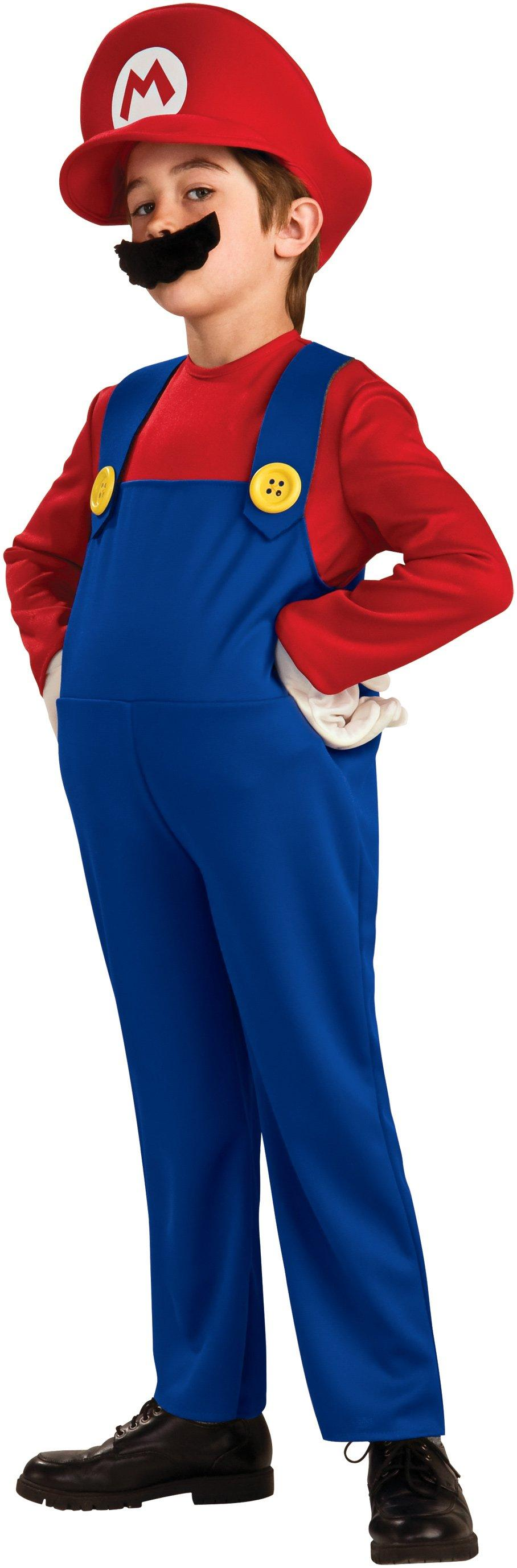 mario (super mario bros) costume deluxe for kids | halloween