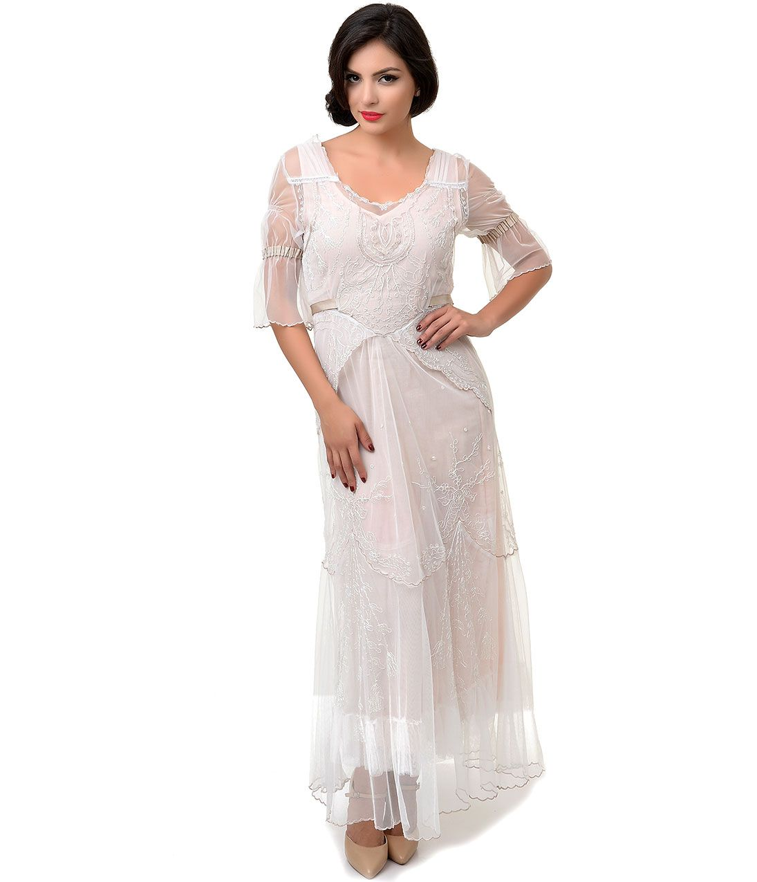 Victorian Edwardian Style Wedding Dresses, Shoes, Accessories