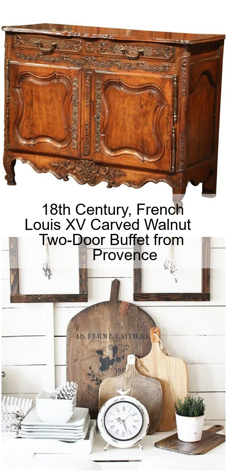 18th Century French Louis Xv Carved Walnut Two Door Buffet From Provence Esszimmerdekoration Buffet Globaler Einrichtungsstil