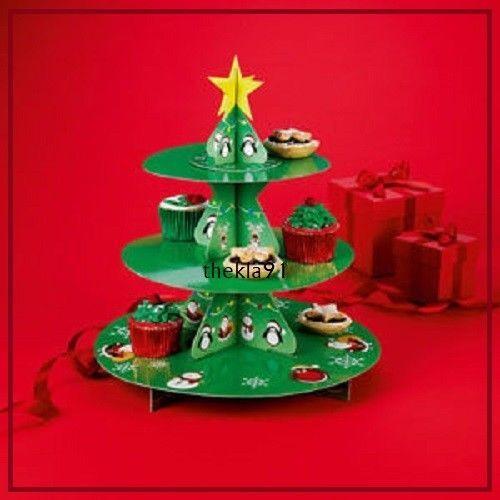 Avon 3 Tier Christmas Tree Cupcake Stand Cardboard Avon Christmas Cake Stand Christmas Tree Cupcakes Tree Cupcake Stand