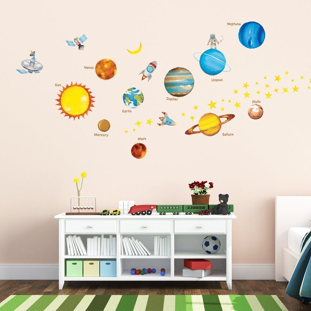 Amazon decowall dw 1307 planets in the space wall stickers amazon decowall dw 1307 planets in the space wall stickers amipublicfo Choice Image