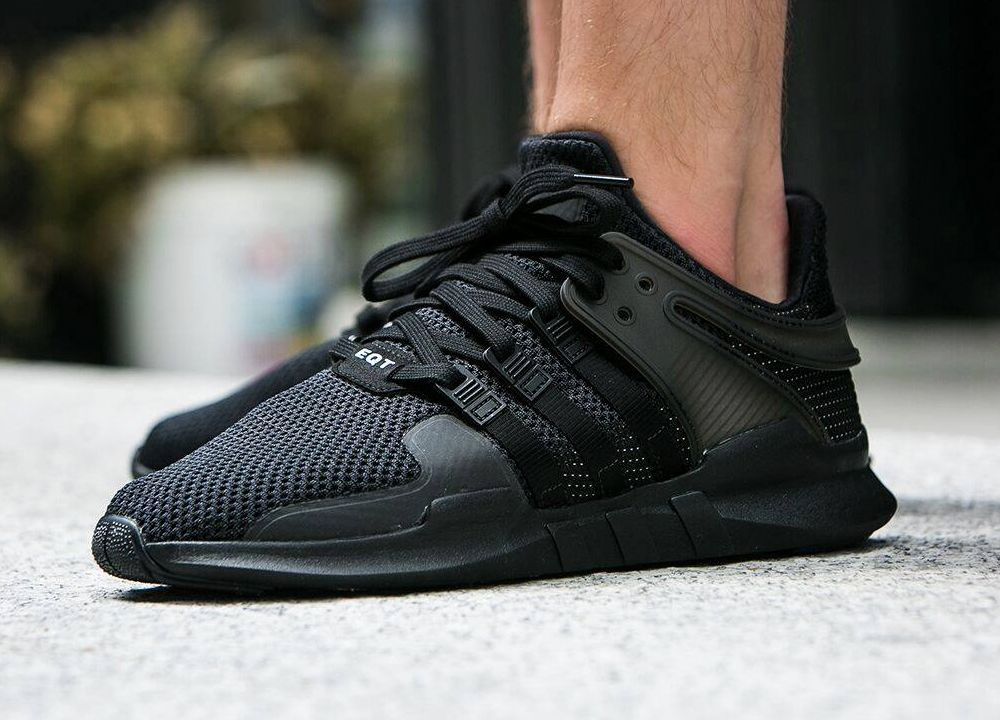 brand new 515a9 2d4ad Adidas Equipment Support ADV - Triple Black (by worldbox ...