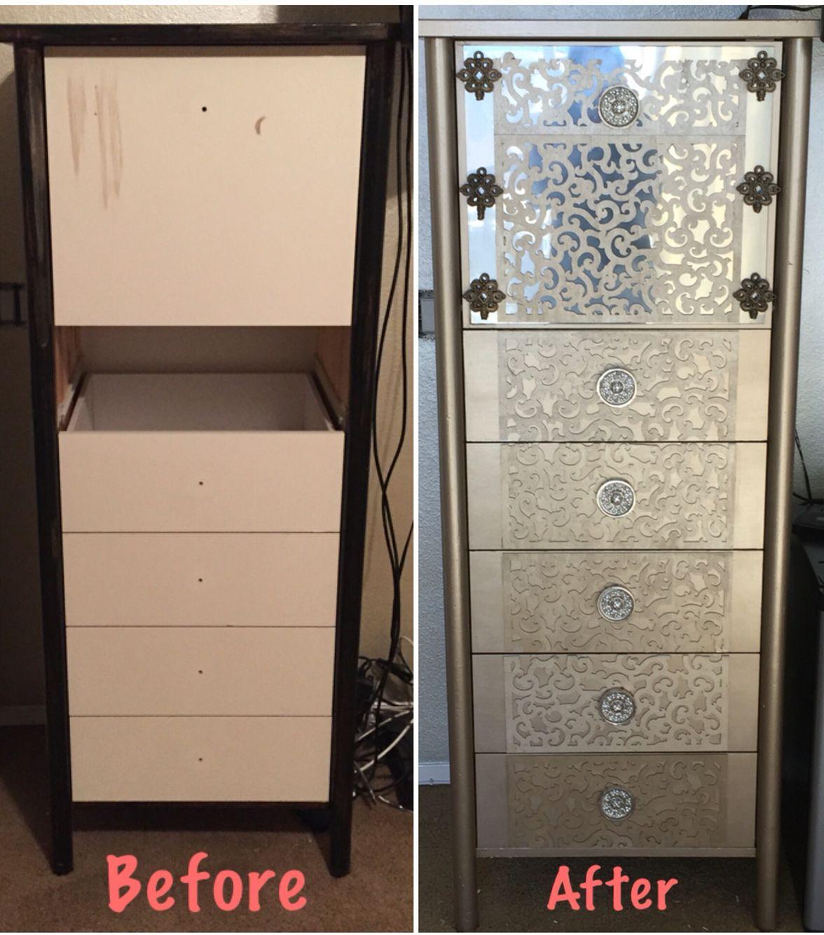 Transformed Thrift Store Find Into Custom Dresser Using Krylon