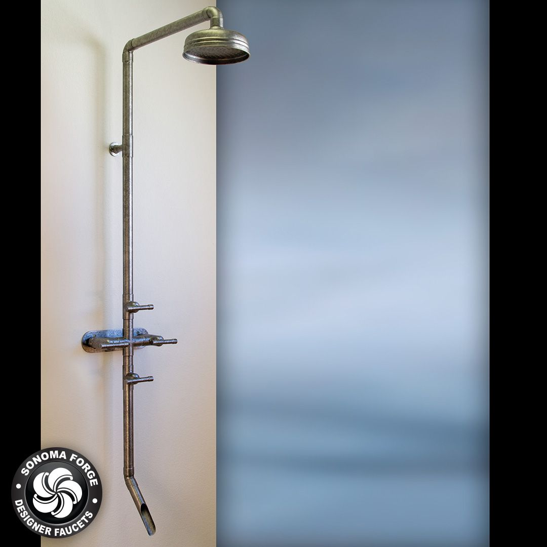 Exposed Shower, The WaterBridge Collection / This artful ...