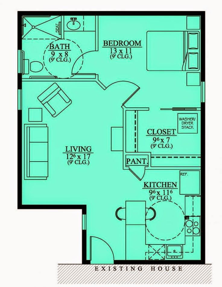 Tiny house blueprint put it over a full basement you for Cottage house plans with basement