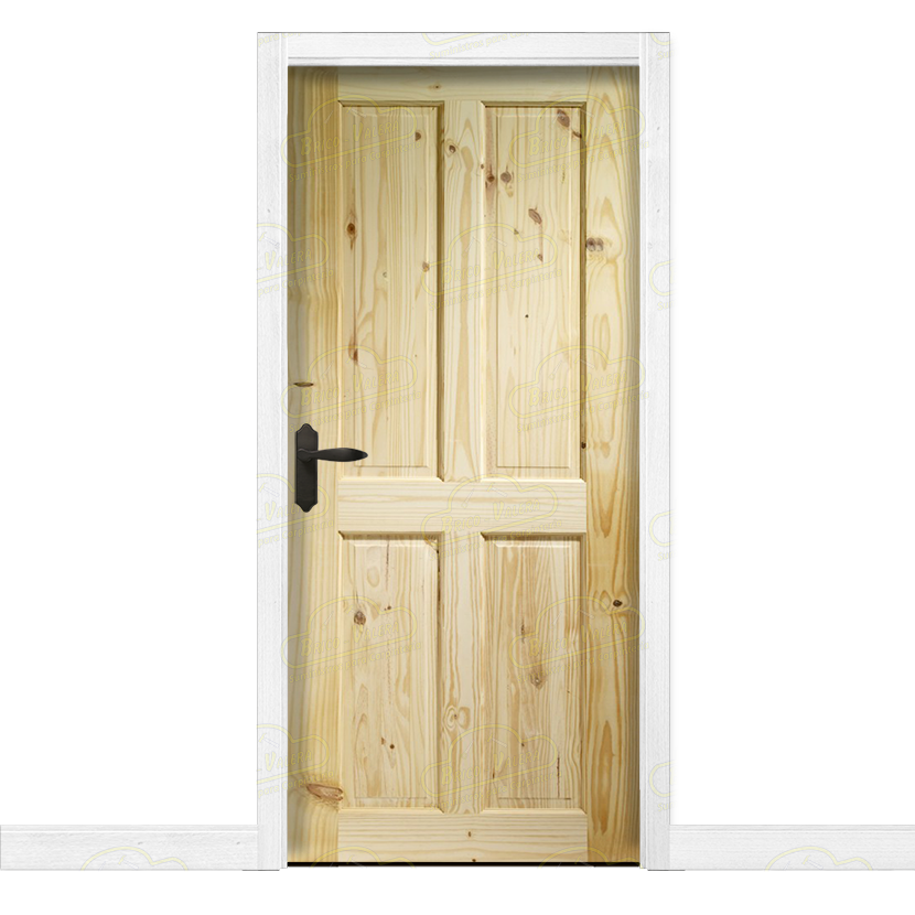 Puerta interior r stica en madera maciza de pino modelo pm - Puertas rusticas interior ...