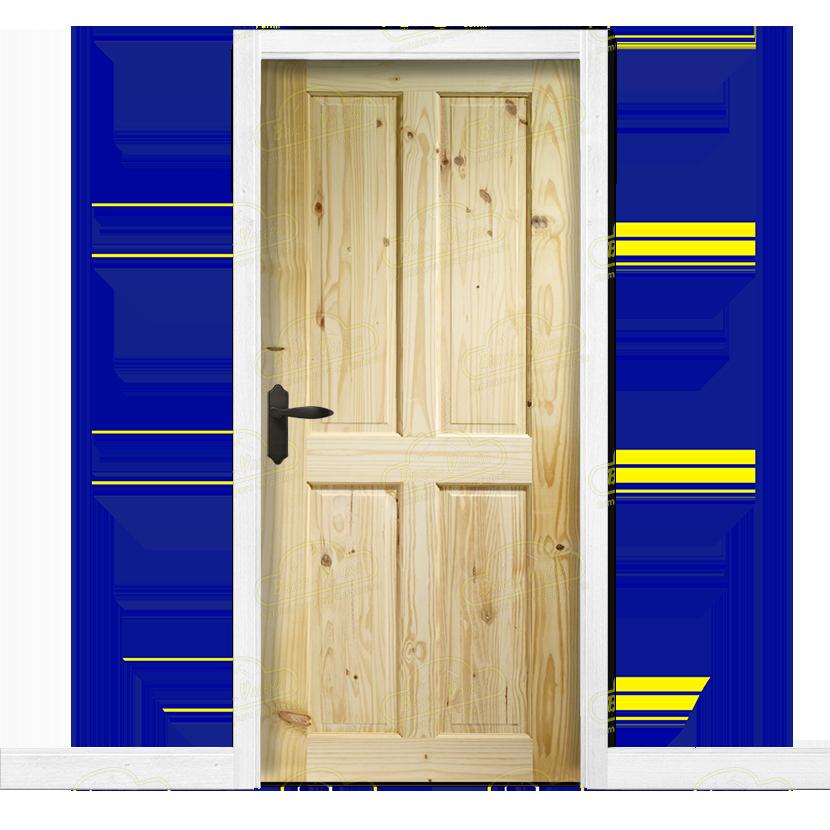 Puerta interior r stica en madera maciza de pino modelo pm for Precio puertas interior madera maciza