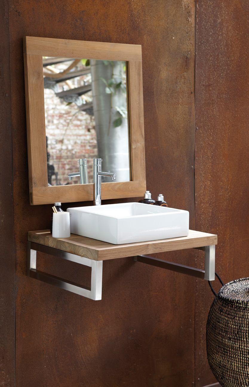 Meuble Salle De Bain Neo Line ~ teak floating vanity nature line art mobilier de salle de bain