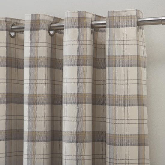 Ochre Balmoral Lined Eyelet Curtains Dunelm Bedroom