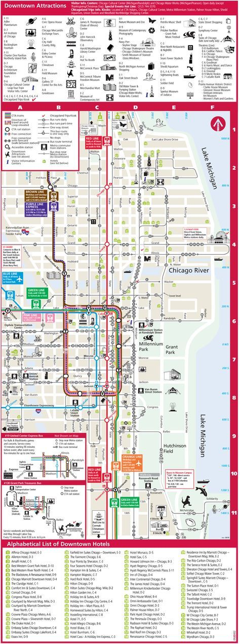 Of course a map. Chicago Tourist Map | Vacation spots in ...