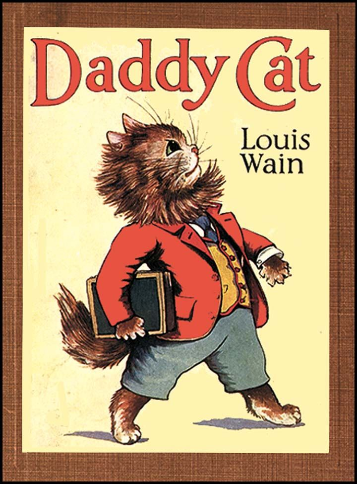 Daddy Cat by Louis Wain Cats illustration, Cats