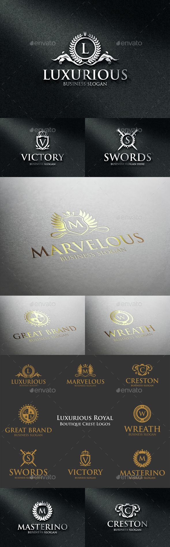 Luxurious Royal Boutique Crest Logos Template Vector EPS, AI. Download here: http://graphicriver.net/item/luxurious-royal-boutique-crest-logos/14564729?ref=ksioks