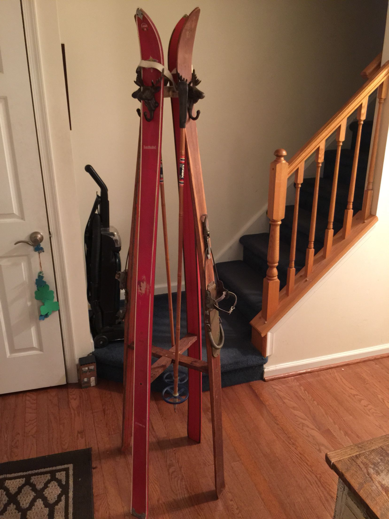 Old Ski Coat Rack