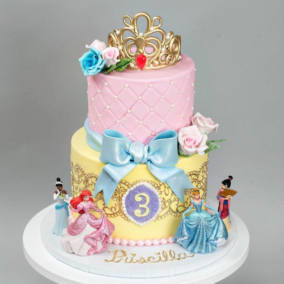 Surprising 27 Exclusive Photo Of Disney Princess Birthday Cakes Disney Birthday Cards Printable Benkemecafe Filternl