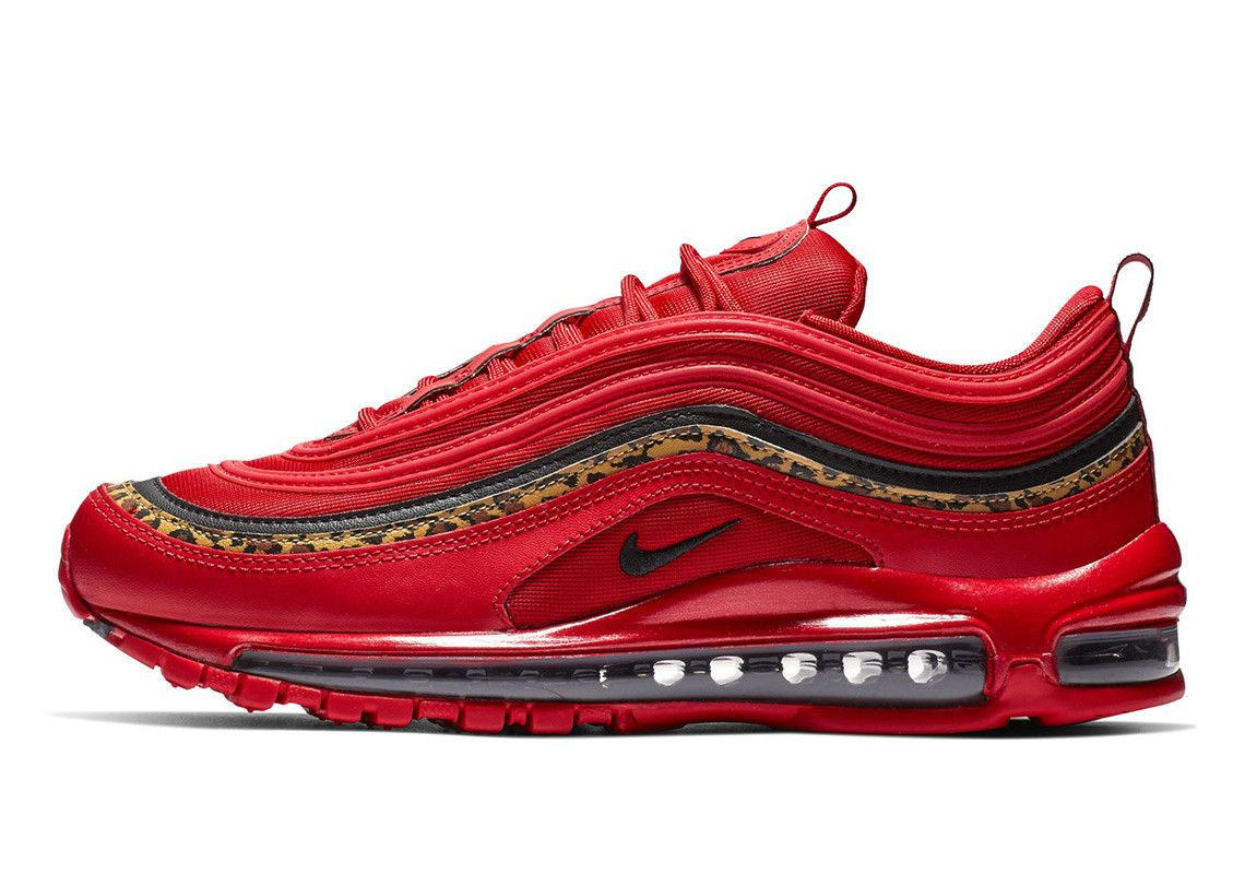 Nike Creates A Racy Air Max 97 In Red Leather And Leopard ...
