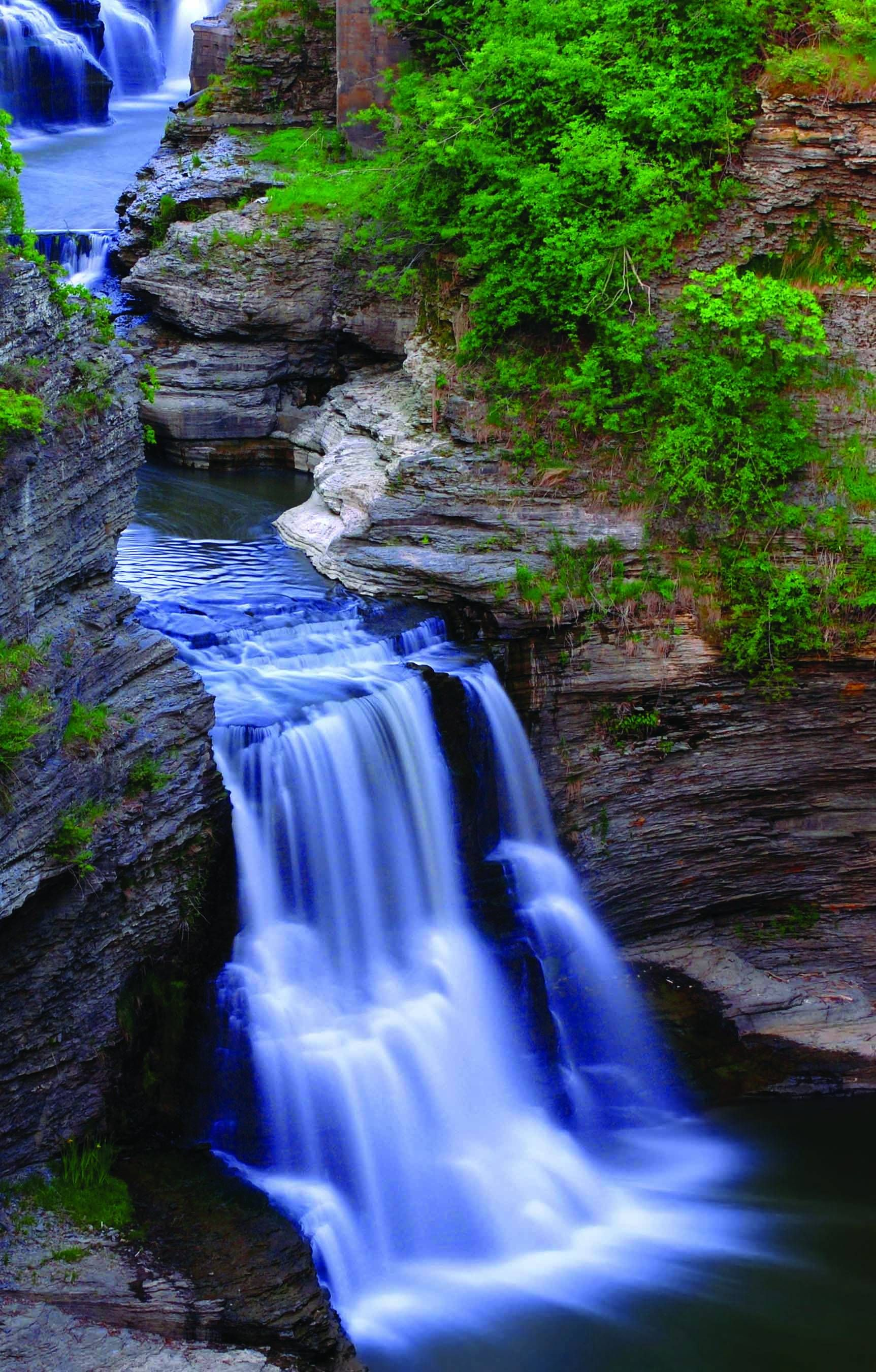 Triphammer Falls On Fall Creek/Cornell Campus