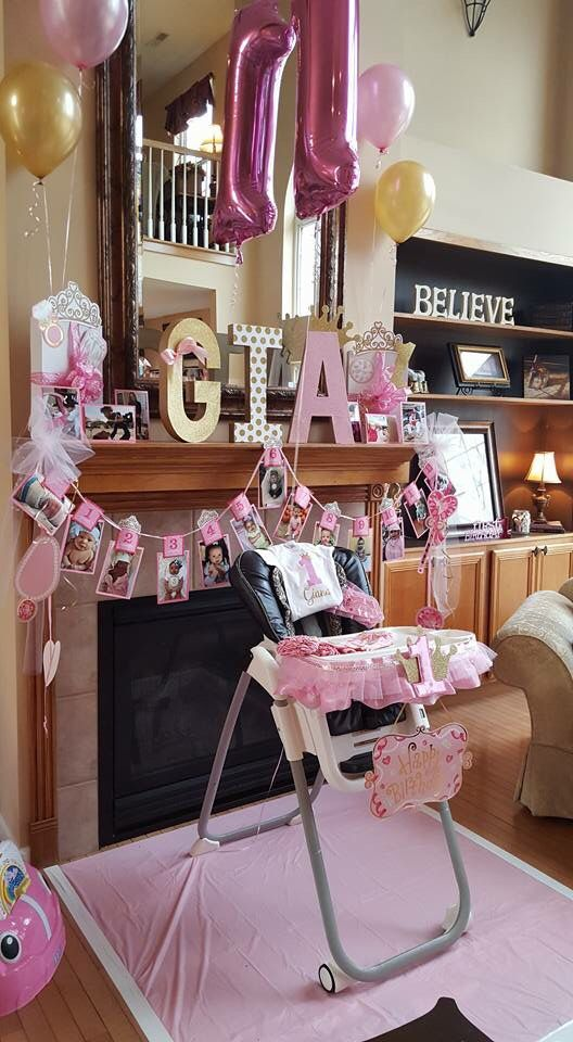 First Birthday Party Decorations Pink And Gold