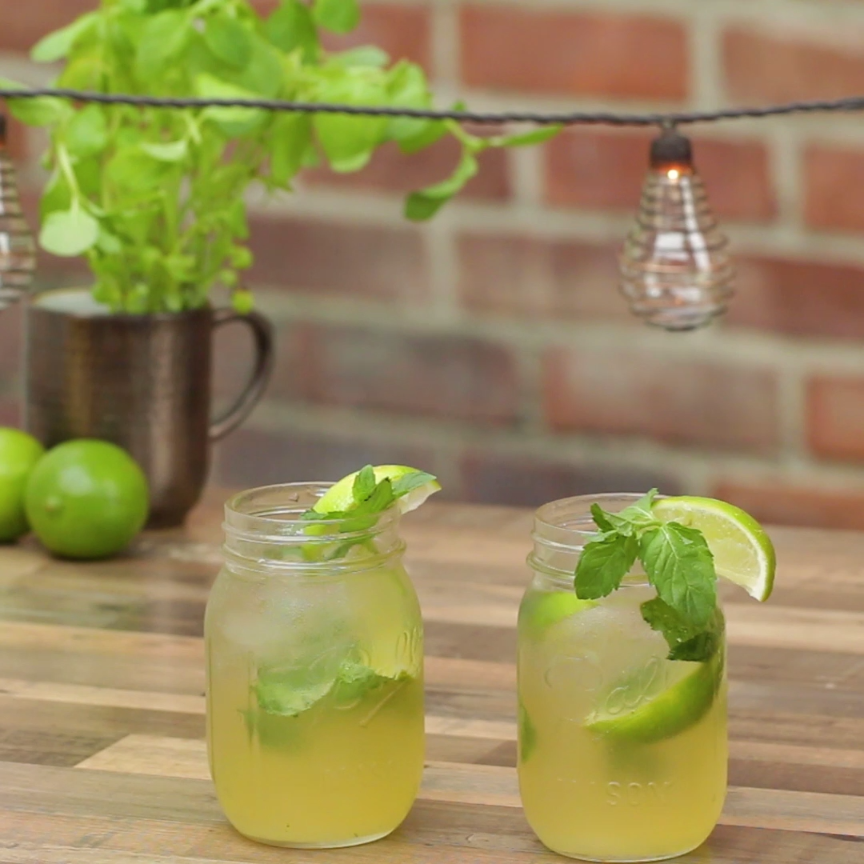 Whiskey Ginger Mojito #cocktaildrinks