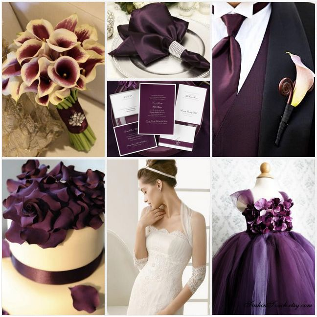 Erin Volante Floral Plum Eggplant Fuschia Purple Wedding