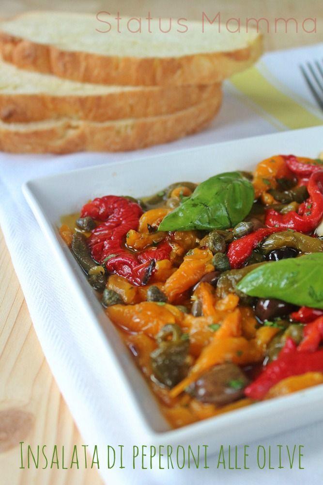 Insalata di peperoni alle olive cucina food dishes for Cucinare vegetariano