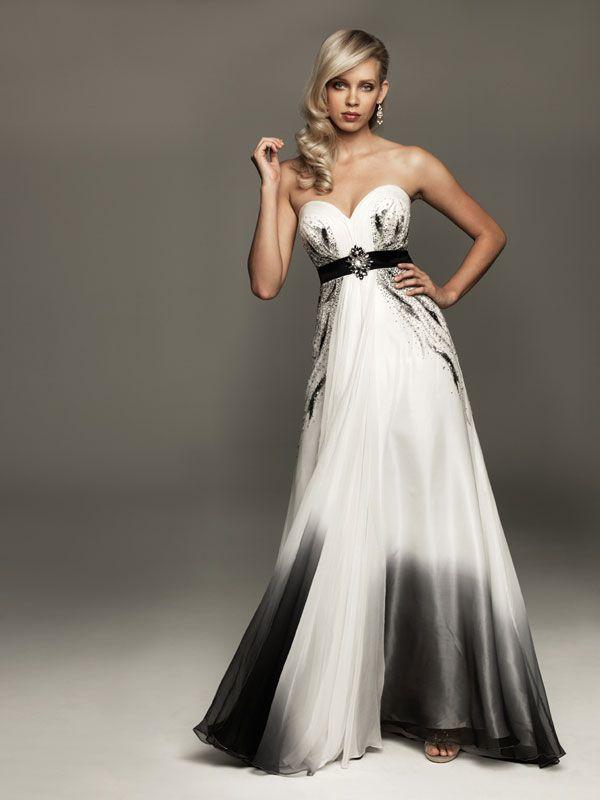d83a5e93e85 Atidui bíločerné společenské šaty - vampire