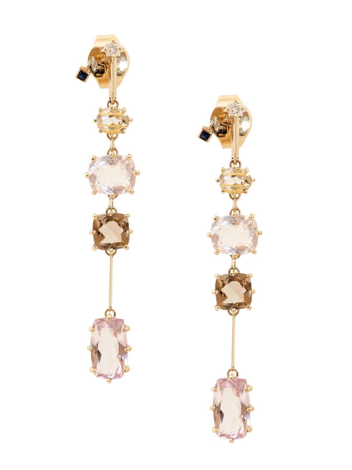 4153f1f0 H.Stern 18k Mixed Gemstone Sunrise Drop Earrings at London Jewelers ...