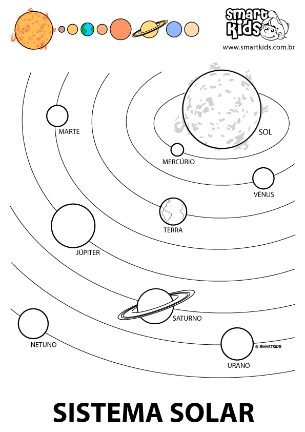 Colorir Desenho Sistema Solar Sistema Solar Artesanato Do