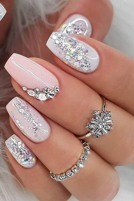 30 Pinterest Nails Wedding Ideas You Will Like In 2020 Nail Designs Glitter Nail Designs Wedding Nails