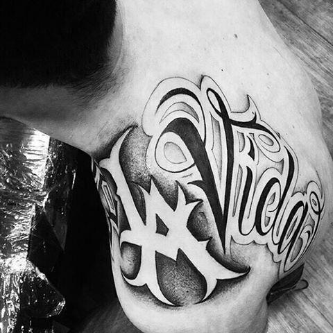 Tattoo Chicano Design Letering Tipografía Tatuajes Vikingos