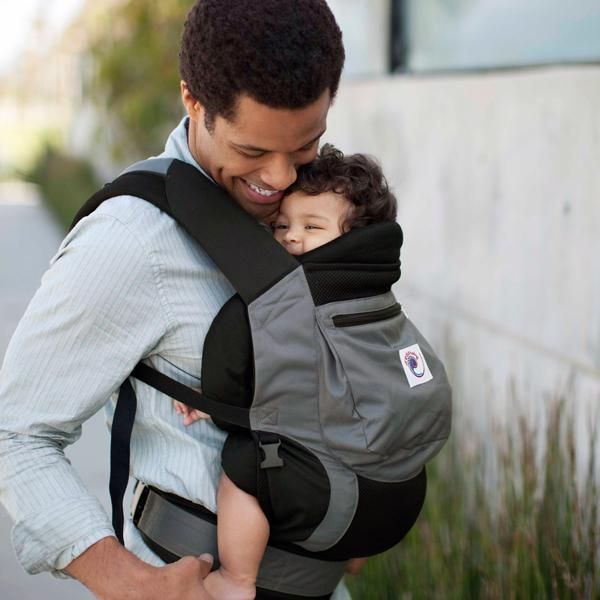 New Ergobaby Performance Carrier In Charcoal Black Dad Diaper Bag Mens Diaper Bag Baby Carrier