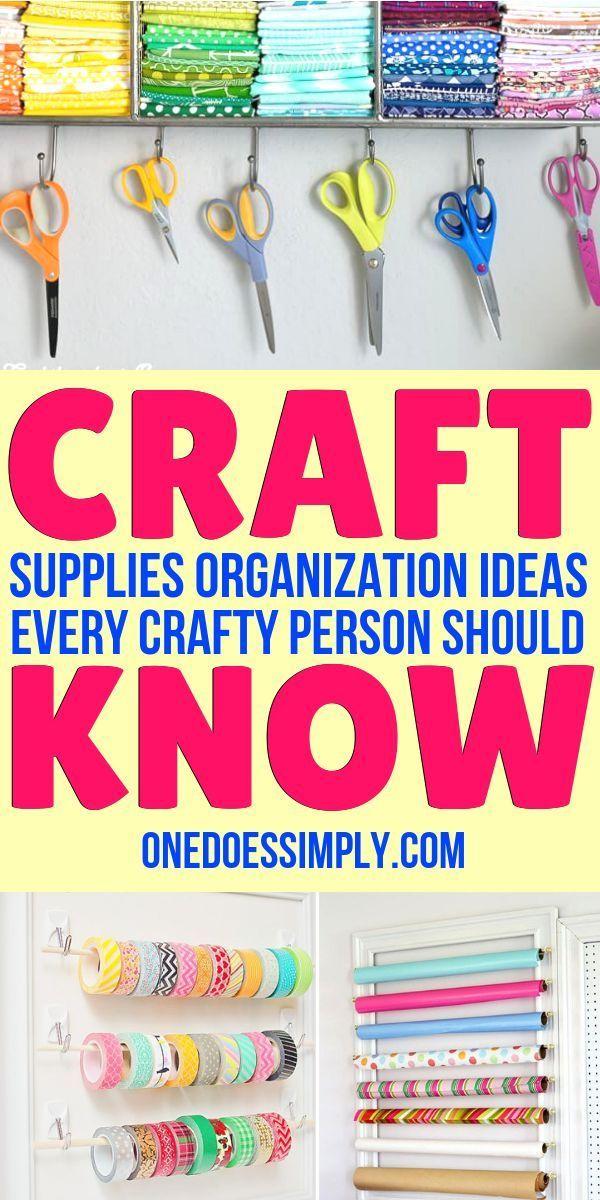 10 Craft Room Organization Ideas Every DIY Person Should Know | ONE DOES SIMPLY #summerhomeorganization