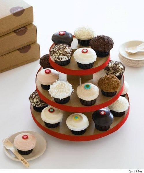 Delicious Tower Of Cupcakes From Sprinkles In La Jolla La Jolla