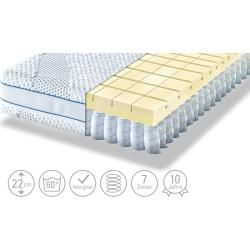 Möve barrel pocket spring core - mattress Aqua Top T ¦ white ¦ dimensions (cm): W: 100 H: 22 mattresses & accessories