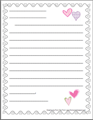 ValentineS Friendly Letter Stationery  Winter Themes