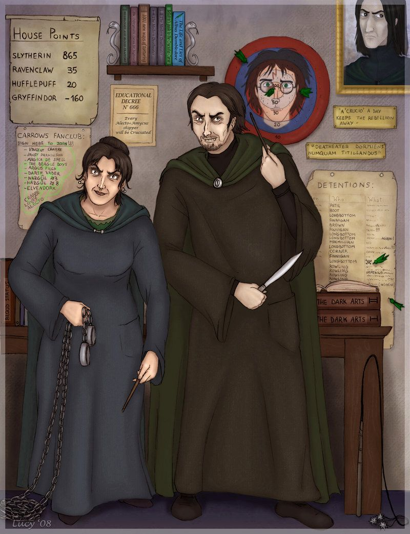 The Carrows By Lucia Cai C 2008 Rowling Harry Potter Harry Potter Books Series Harry Potter Art
